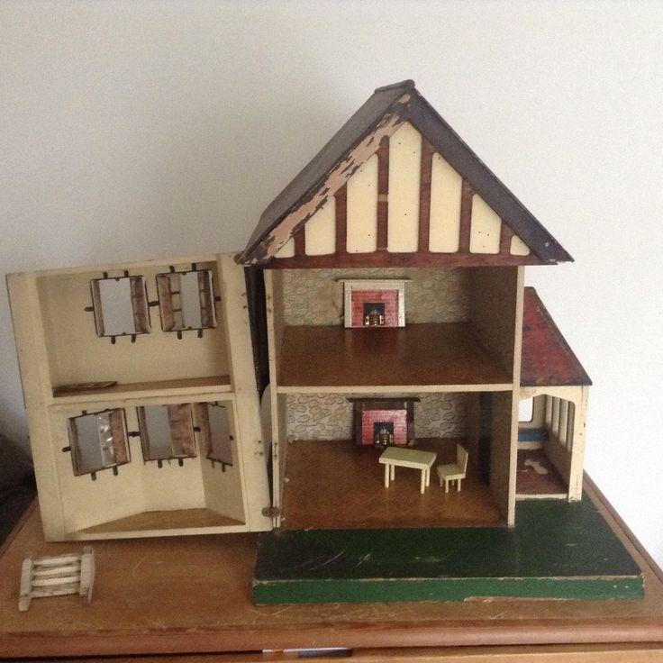 "VINTAGE TRIANG DOLLS HOUSE ""HALF STOCKBROKER""NUMBER 70-1932-1936-4 RESTORATION. | eBay"