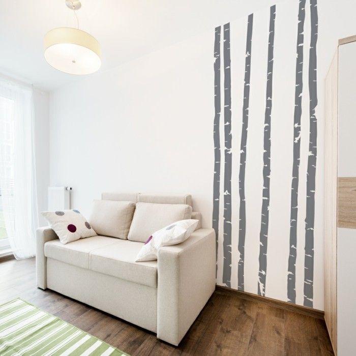 Pinterestu0027teki 25u0027den fazla en iyi Wandtattoos wohnzimmer fikri - sch ne wohnideen wohnzimmer