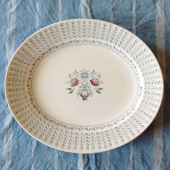 Alfred Clough Ltd Melody Bone White Ironstone oval Platter