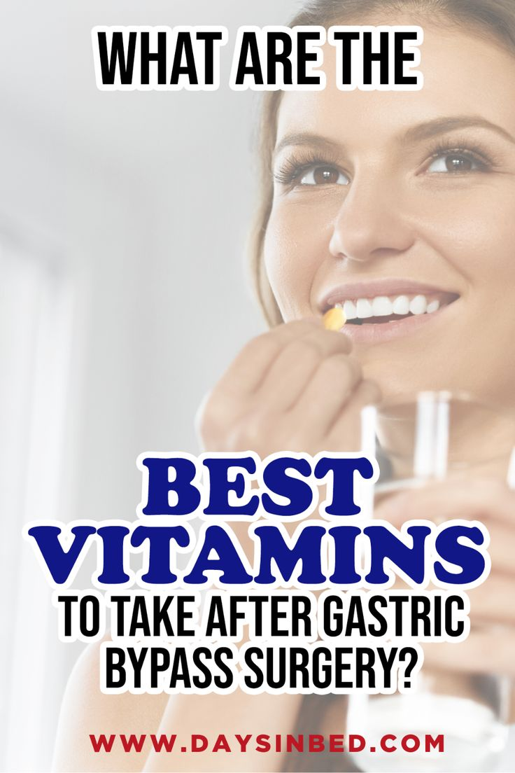 Vitamin Supplements After Gastric Bypass Surgery