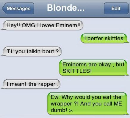 Funny text - I love Eminem