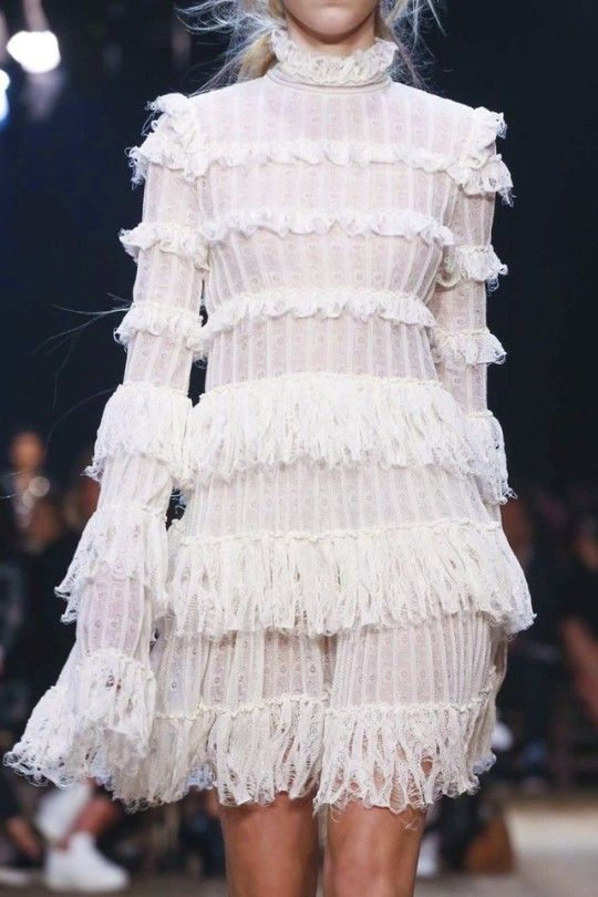 this but using diferent patched african prints to form the ruffles