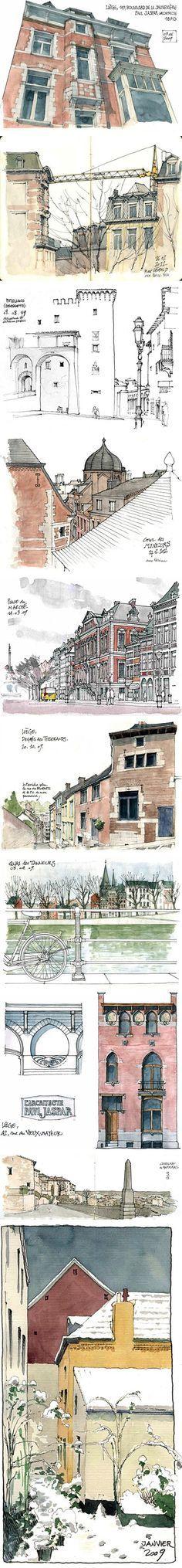 paisajes urbanos Gérard Michel