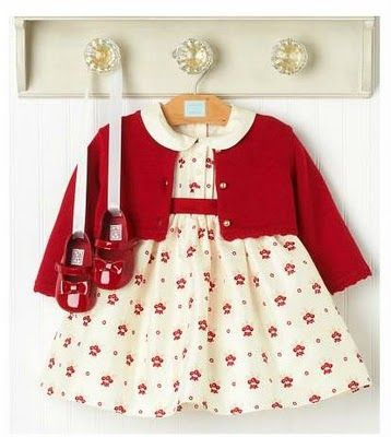 Holiday dress, cardigan, and mary janes by Janie and Jack