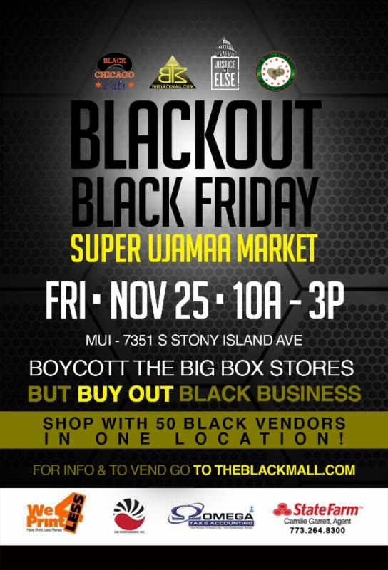 We are very proud of our latest opportunity for community involvement, in which we are (1) one of the sponsors of The Super Ujamaa Market at Chicago State University on Oct. 15, 2016. The goal of The Super Ujamaa Market is circulate money and resources in the community and thus help create and support African American businesses and the resulting jobs they create.