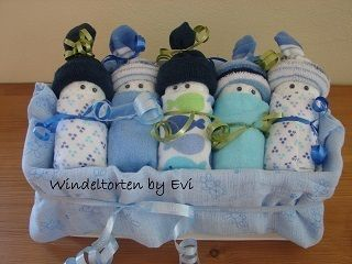 How To Make Diaper Babies – cute and homemade baby shower gift ,  Rose Hadley