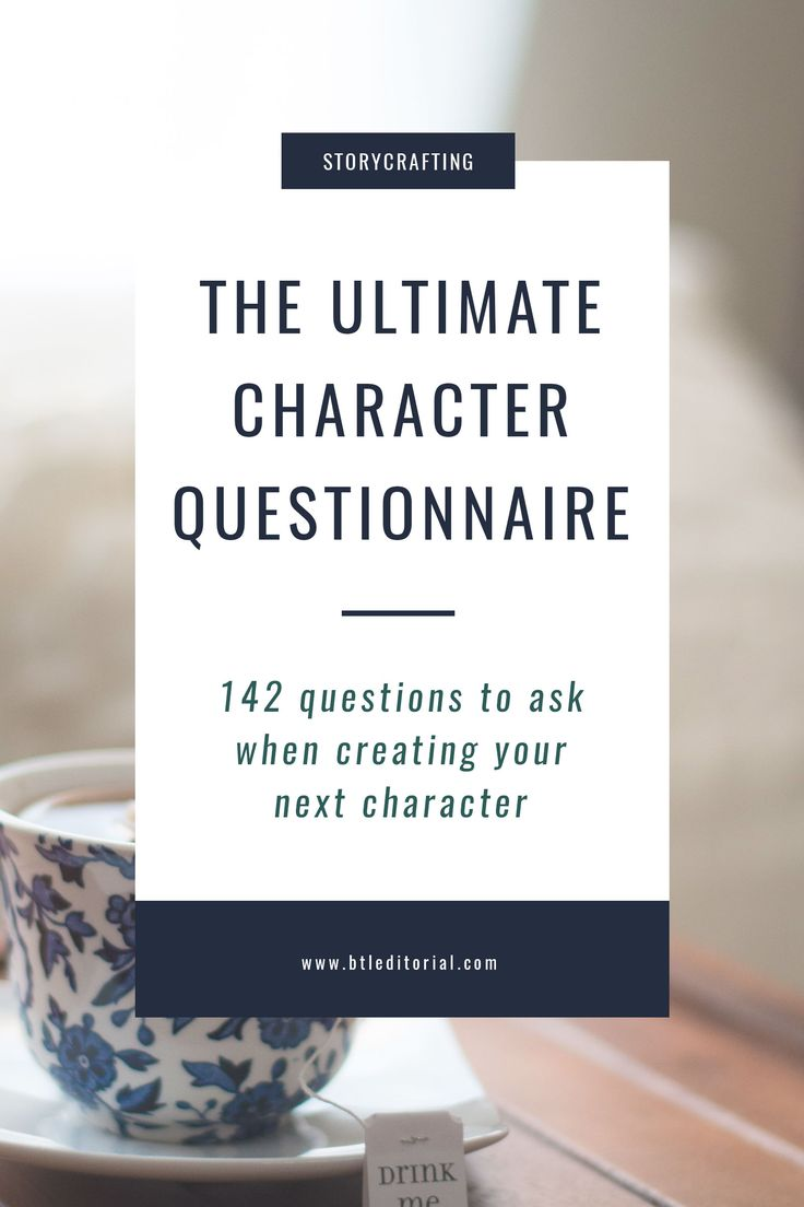 This ultimate character questionnaire is designed to spark your creativity and bring new depth to your characters for novels, short stories, and more.