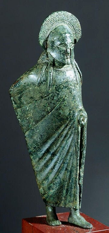 Spartan Warrior is one of our few remaining examples of Spartan art. Sparta or Lacedaemon was a prominent city-state in ancient Greece, situated on the banks of the Eurotas River in Laconia, in south-eastern Peloponnese. Around 650 BC, it rose to become the dominant military land-power in ancient Greece.