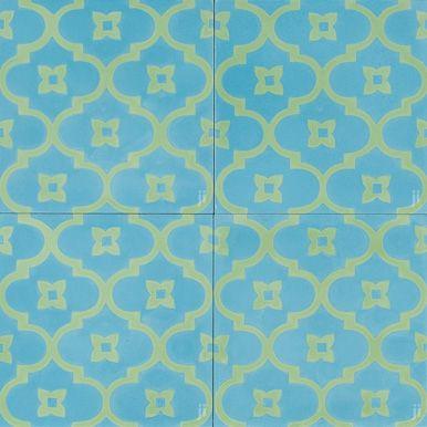 New Blue Moorish Night reproduction tile
