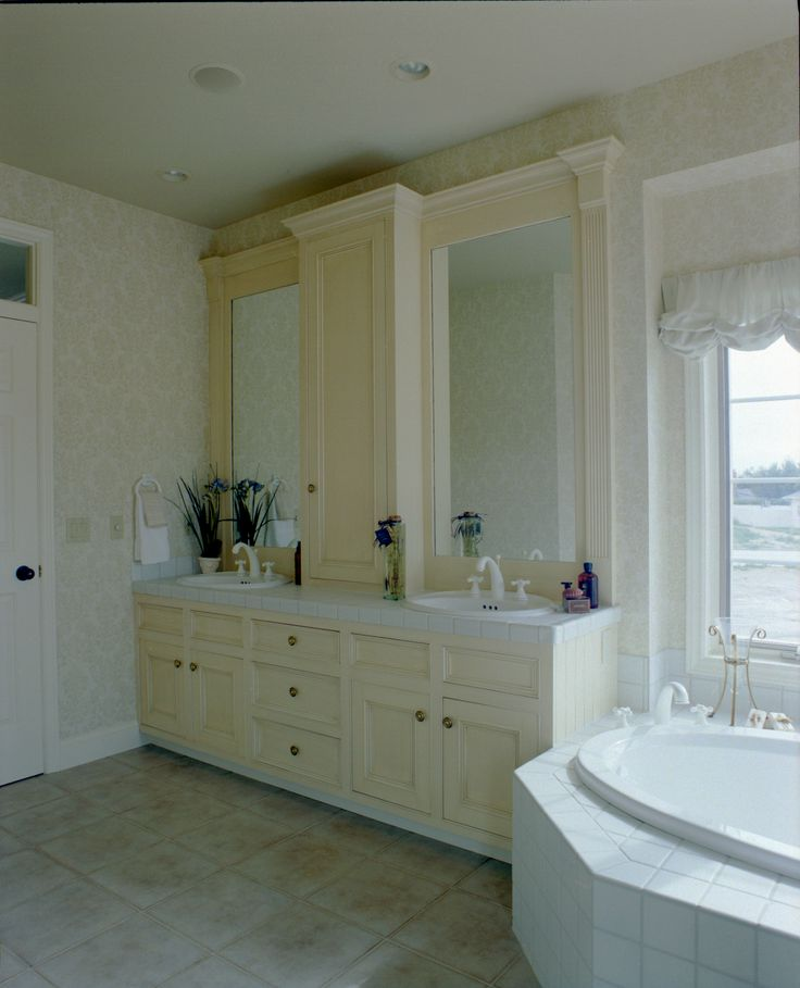 Image Of Custom master bath vanity and cabinetry