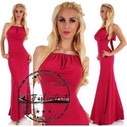 Rochie eleganta lunga fuchsia Ravishing