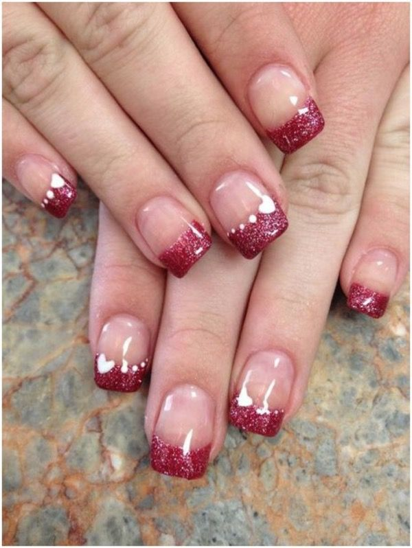 Lovely Hot Valentine S Day Nail Designs In 2019 Valentines Nail Art Designs Valentine Nail Art Nail Designs Valentines