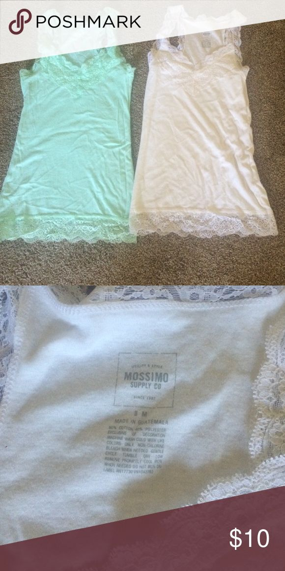 Lace tank tops Cute lace tanks for layering or on their own! Mossimo Supply Co. Tops Tank Tops