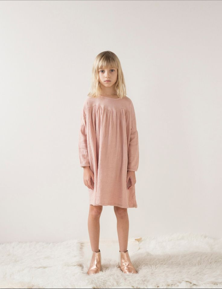 Beautiful colour tones and soft girls dresses at Luisa et la Luna for fall/winter 2015 kidswear