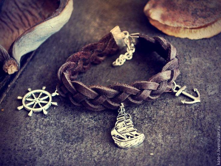 Купить Кожаные браслеты в ассортименте - браслет, Браслет ручной работы, браслет из кожи, кожаный браслет