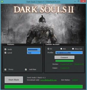 Dark Souls 2 Hack v1.1 [UPDATED]Cheats For PC, Xbox 360, PS3 Online 2017 Tool New Dark Souls 2 Hack v1.1 [UPDATED]Cheats For PC, Xbox 360, PS3 download undetected. This is the best version of Dark Souls 2 Hack v1.1 [UPDATED]Cheats For PC, Xbox 360, PS3, voted as best working tool.