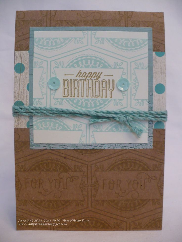 The Inky Scrapper: H2H Birthday Bash and Framed Background Tutorial | CTMH August Stamp of the Month