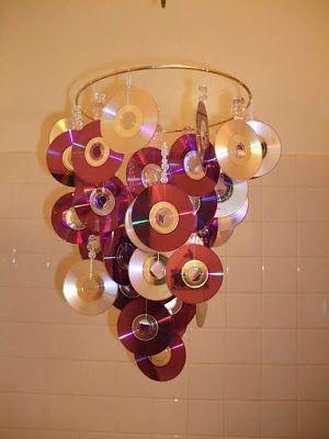 Mais de 12 ideias para desfrutar de CDs antigos   – Projetos Diy com Recicláveis