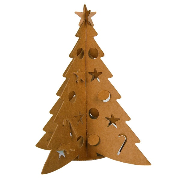 the cardboard christmas tree sapin de no l en carton. Black Bedroom Furniture Sets. Home Design Ideas