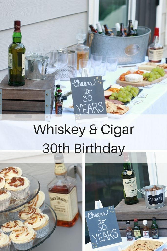Whiskey And Cigar 30th Birthday Party http://fashionistamomma.com/whiskey-and-cigar-party-30th-birthday/