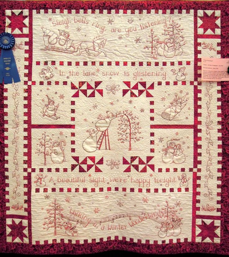 Quilt Inspiration: River City Quilt Guild - Day 4 ('Tis the Season!)