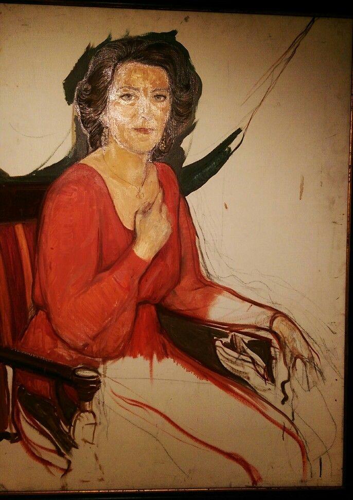 ILYA GLAZUNOV Портрет Е. Образцовой 1982  ortrait of Elena Obraztsova 1982
