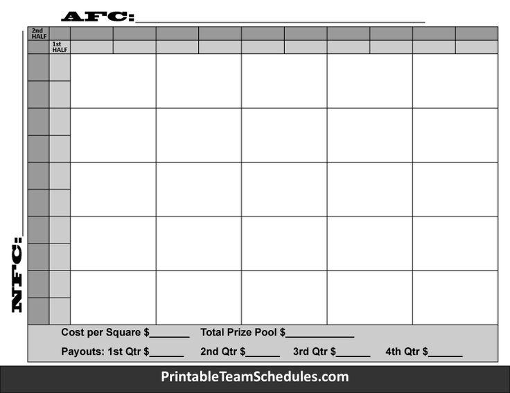 Monster image regarding printable 25 square football pool
