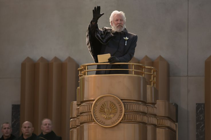 Präsident Snow (Donald Sutherland) // DIE TRIBUTE VON PANEM - CATCHING FIRE