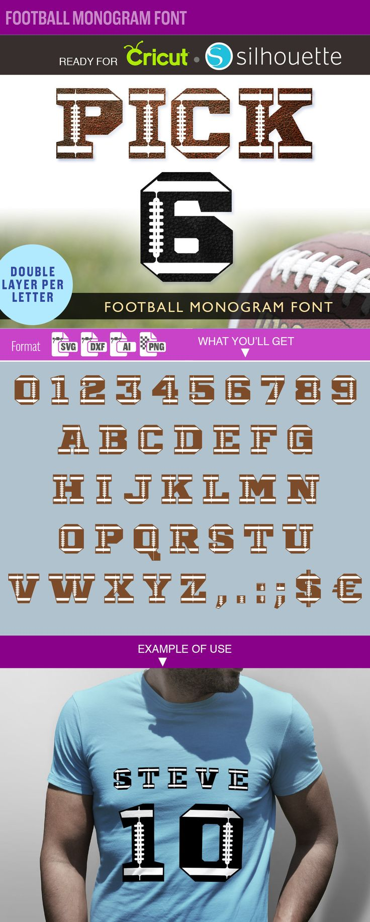 FOOTBALL FONT svg US Football Monogram font Svg Cut Files Vinyl Cutter Cricut Silhouette Letter Number College Varsity Jersey Alphabet 179 by SVGmonster on Etsy