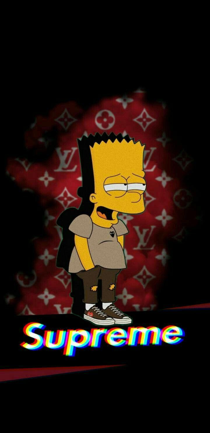 Pin By Shahin On Glitch Bart Simpson Art Supreme Wallpaper Simpson Wallpaper Iphone