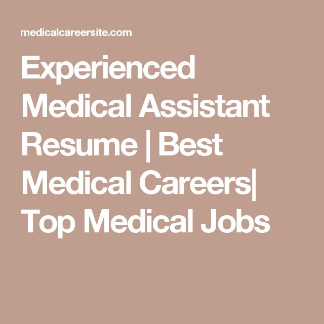 Best 25+ Medical assistant resume ideas on Pinterest Nursing - sample resume for medical lab technician