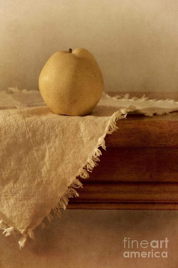 Dining Room Photograph - Apple Pear On A Table by Priska Wettstein