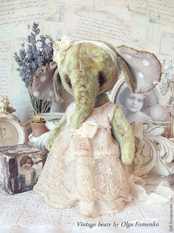 """Купить Слоняшка """"Циля"""" - слоник, слон, тедди, слоник тедди, девочка, слоник девочка"""