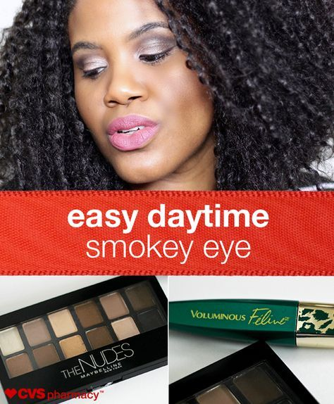 """An easy daytime smokey eye is a perfect way to get out of the door quickly as the holiday season approaches, and everything you need to get it can be found at your local CVS Pharmacy. Kim from """"Naturally Fashionable"""" breaks it down into these easy steps."""