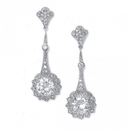 Estelle Cubic Zirconia Event Earrings