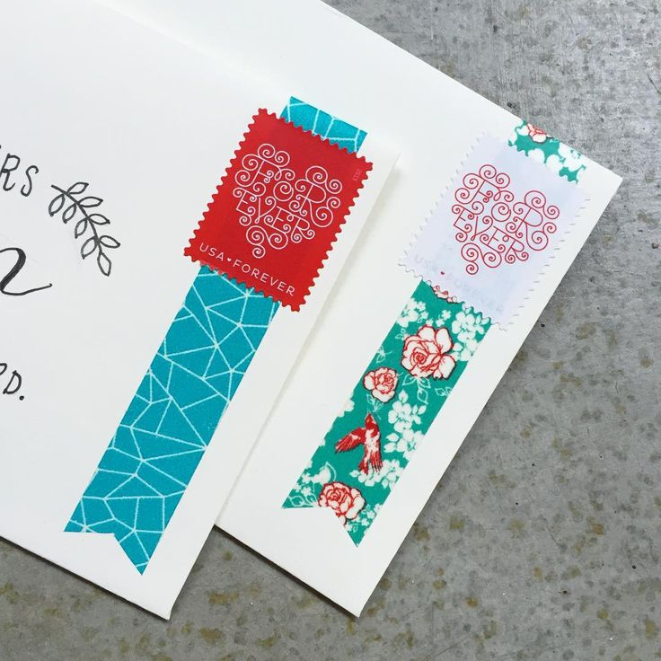 sweet way to decorate letters with washi