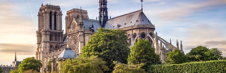 https://www.cityspotters.com Notre Dame, deze imposante gotische kathedraal ligt op een eiland – Île de la Cité. Parijs, Frankrijk, stedentrip, vakantie, citytrip