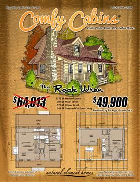 The Rock Wren | Big Little Log Cabin Sale | Natural Element Homes