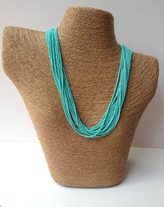 turquoise necklace blue necklace teal by StephanieMartinCo on Etsy