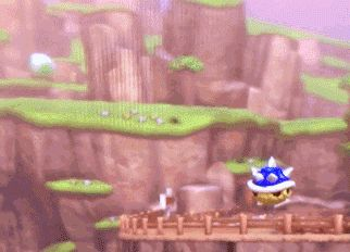 What it's like getting a Blue Shell.  I especially love the second place reaction.