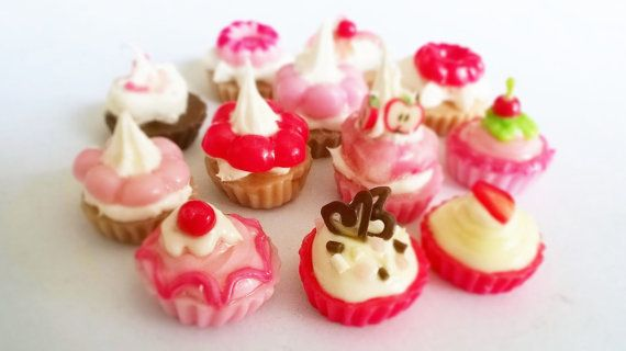 Miniature Polymer Clay Cupcake Supplies for Dollhouse by claydecor, $5.90