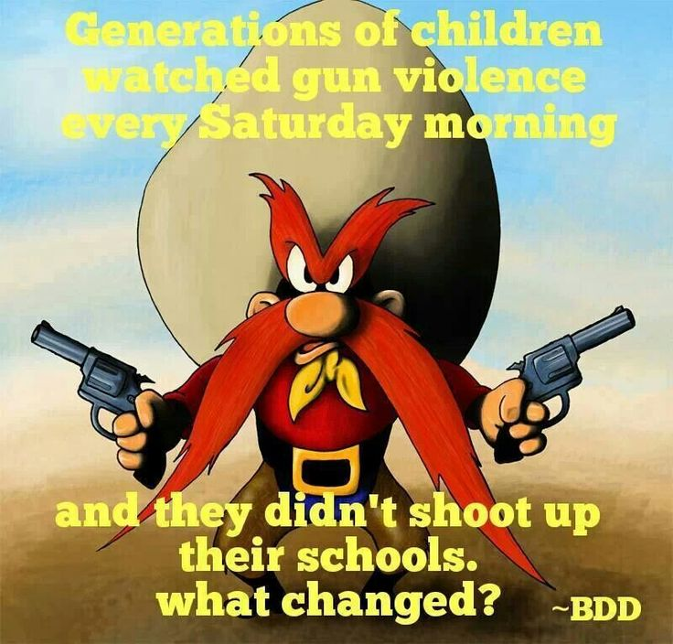 Seems to me like when they STOPPED showing these cartoons school shootings went up...