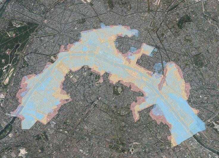 Et une carte des zones actuellement inondables à Paris. | 19 cartes qui vont vous faire voir Paris différemment