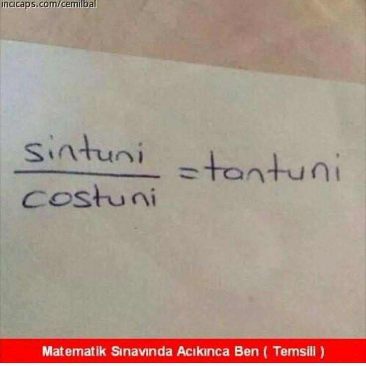 sintuni / costuni = tantuni  - Matematik sınavında acıkınca ben (temsili)  #mizah #matrak #komik #espri #şaka #gırgır #komiksözler  #caps
