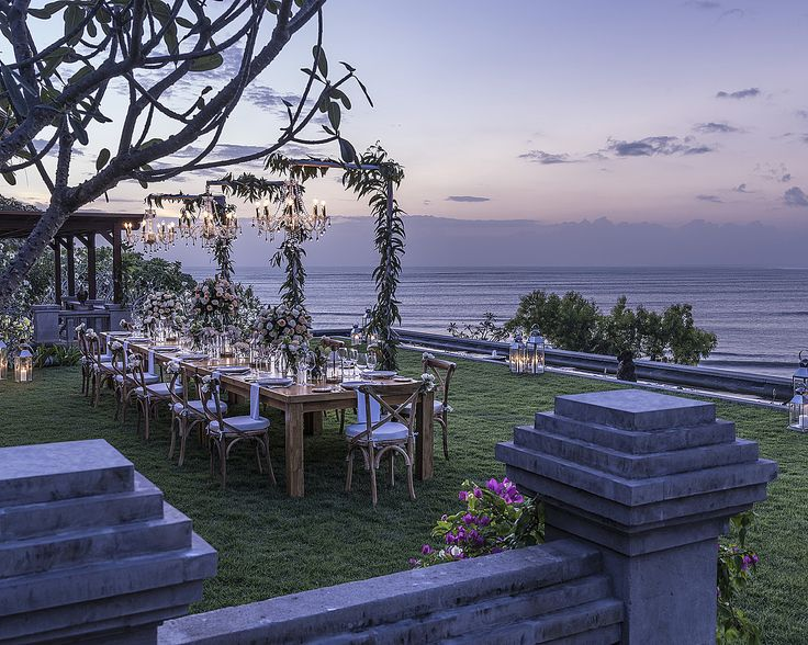 Sunset Wedding Set Up at Imperial Villa