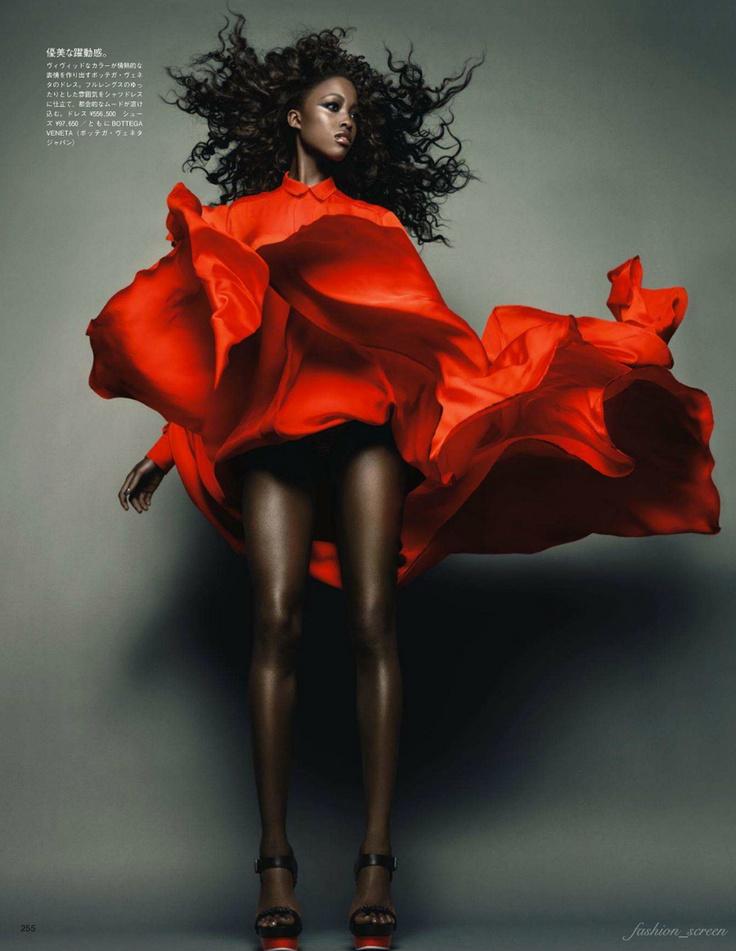 Nyasha Matohondze photographed by Solve Sundsbo for Vogue Nippon, November 2011