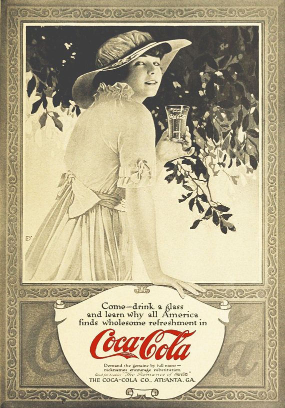 This is a very rare vintage Coca Cola advertisement dated 1915. This is a printable digital vintage artwork item for instant download! NO physical product will be sent. You will get 2 different effects digital image: JPEG 2791 x 3990 pixel x 1 JPEG 2791 x 3990 pixel x 1 After