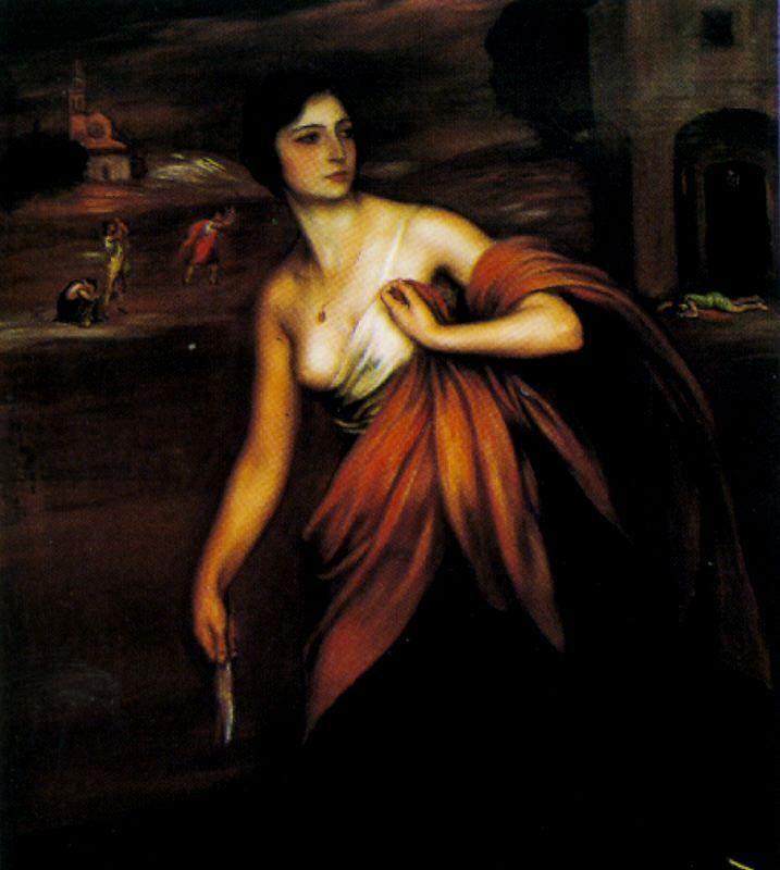 La chica de la navaja.   Julio Romero de Torres   Pinterest