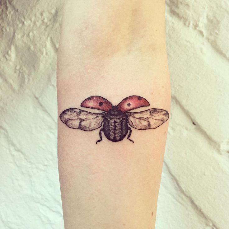 Nice ladybug tattoo