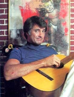 Lyle Waggoner plays the guitar, 1970's.